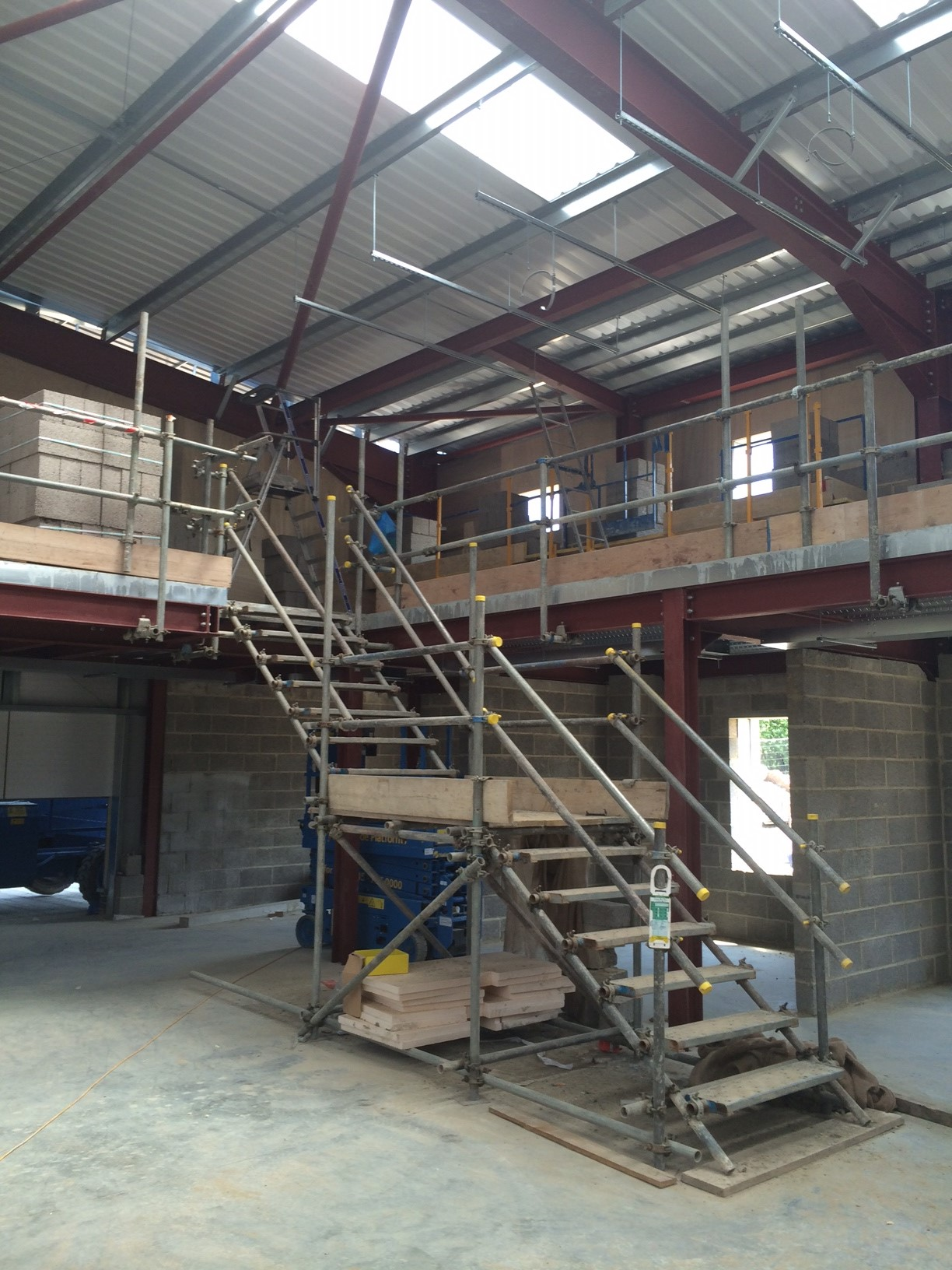 Internal Temporary Staircase Swindon New College